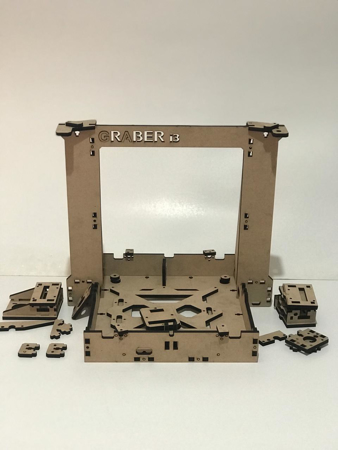 3D Printer Graber i3 Wooden Frame Kit Front