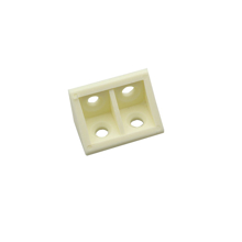 10 Plastic Corner Angle Brackets 90 Degree (Creamy) With Cover side