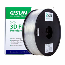 ESUN 3D PRINTER PLA FILAMENT -CLEAR- 1.75mm 1KG