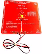 Picture of 12V,24V Dual Power Heat Bed for 3d printer with built-in Wire,Resistor,100k ohm Thermistor and Led