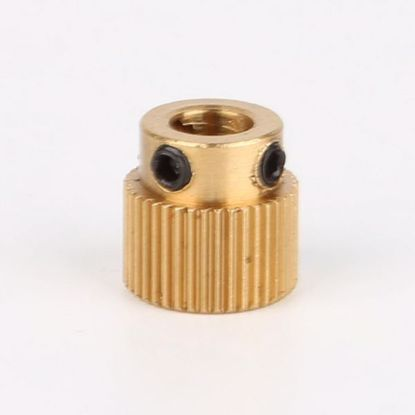 Picture of MK8 Extruder Gear 26 Tooth ( Brass) 5mm