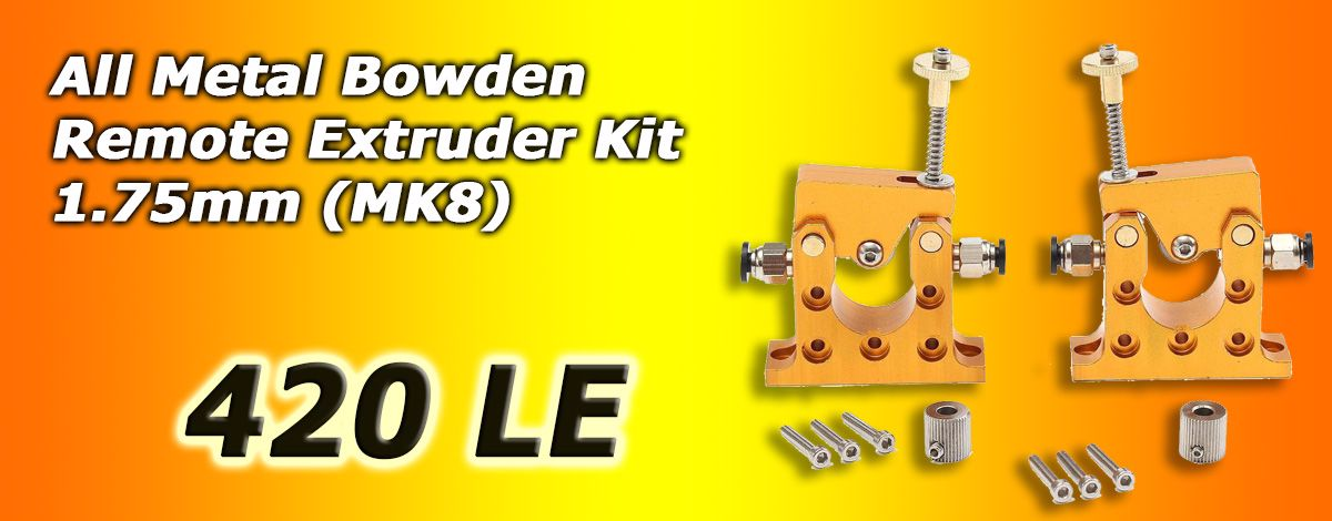 All Metal Bowden Remote Extruder Kit 1.75mm (MK8)